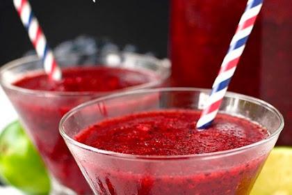 Mixed Berry Rum Slushies #christmsas #drink