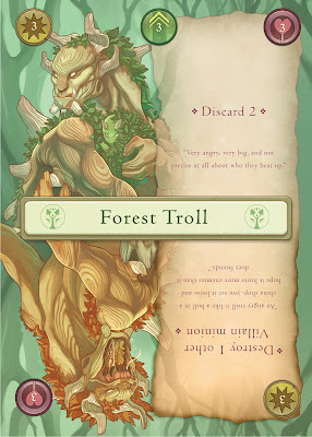 Forest Troll card example