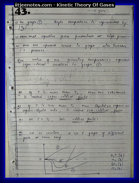 Kinetic Theory Of Gases Notes IITJEE13