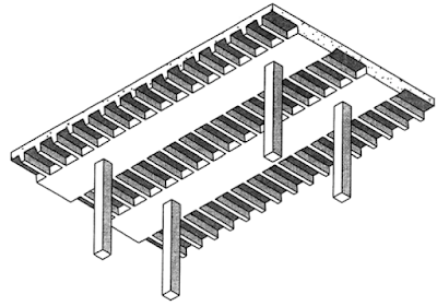 FIGURE 2 Standard one-way joist system.