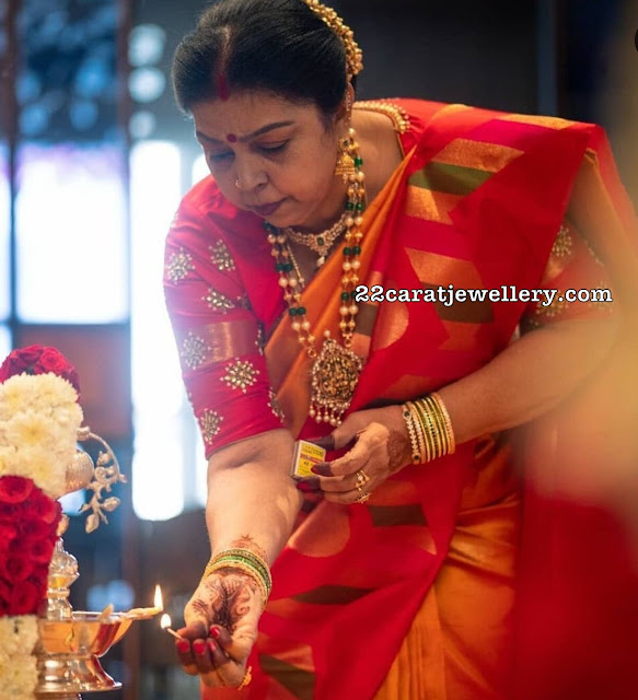 Sneha Mother in Beads Long Chain