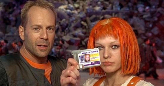 Bruce Willis y Milla Jovovich