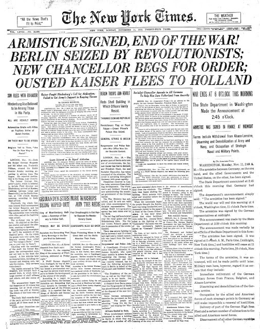 Armistice WWI is at an end
