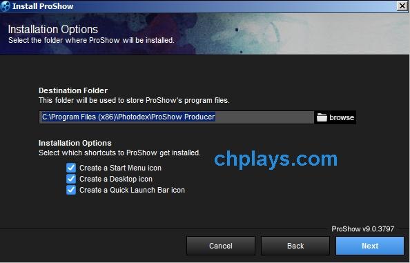 Hướng dẫn cài đặt phần mềm Proshow Producer 9.0.3797 d