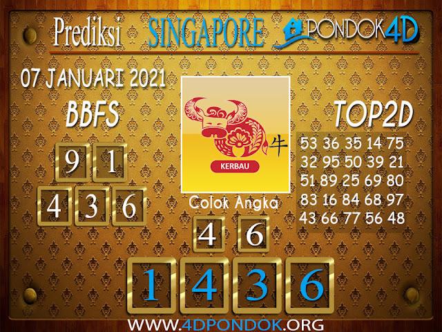 Prediksi Togel SINGAPORE PONDOK4D 07 JANUARI 2021