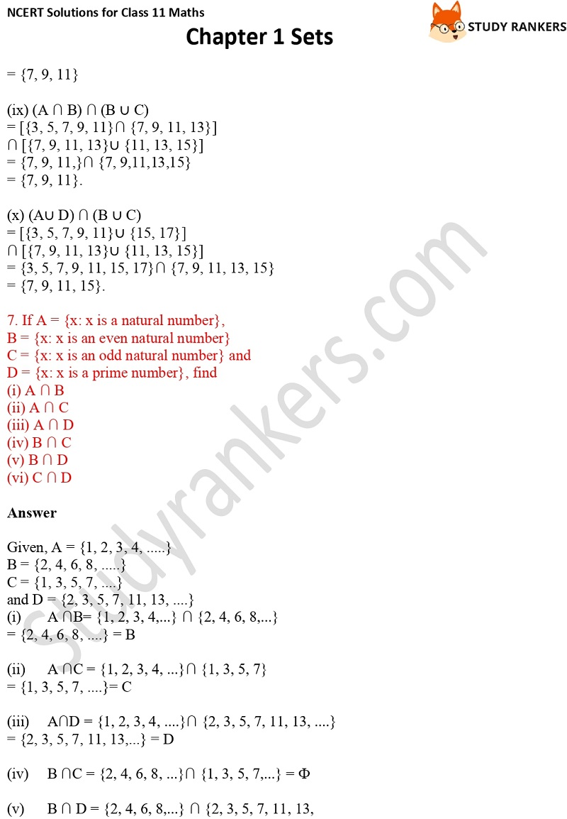 NCERT Solutions for Class 11 Maths Chapter 1 Sets 12