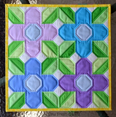 Pretty Posy quilt block tutorial from Sew Fresh Quilts