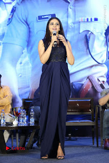 Actress Rakul Preet Singh Stills in Beautiful Blue Long Dress at Dhruva Salute to Audience Event  0065.JPG