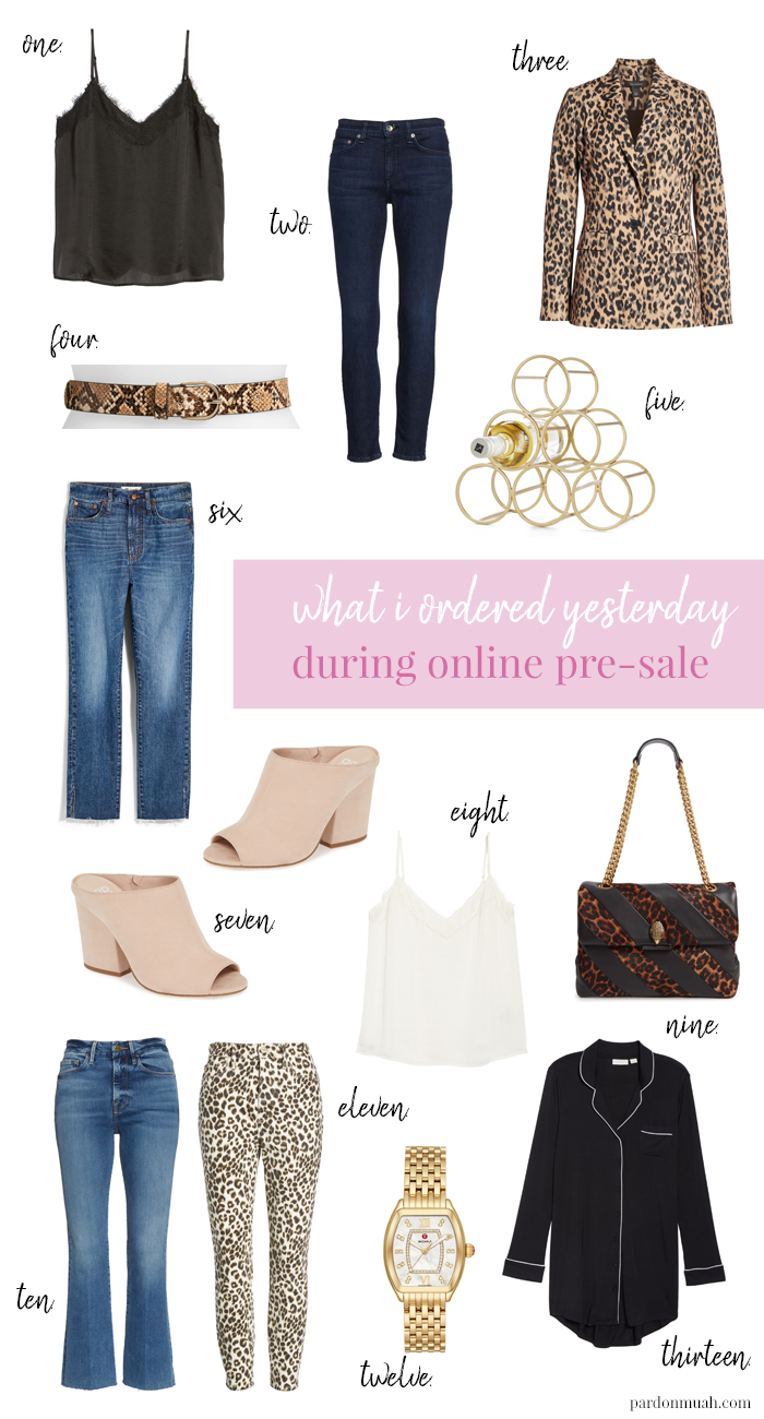 what i purchased from the nordstrom anniversary sale