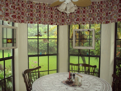 antique drapes, kitchen drapes, stained glass windows