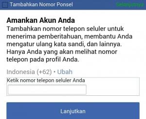 Cara daftar Facebook di HP Android