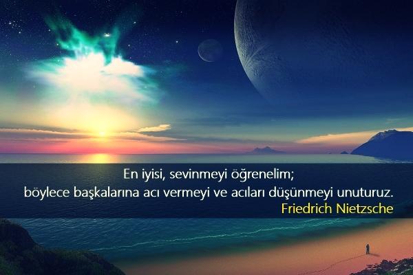 uzay, manzara, gezegenler, deniz, yıldızlar, güzel sözler, özlü sözler, anlamlı sözler, friedrich nietzsche