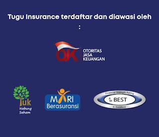 Tugu insurance Terdaftar dan diawasi OJK