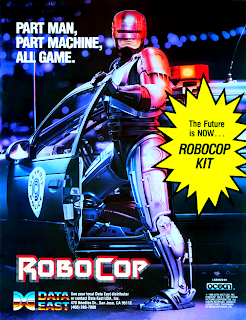 RoboCop+arcade+game retro+portable+art+flyer