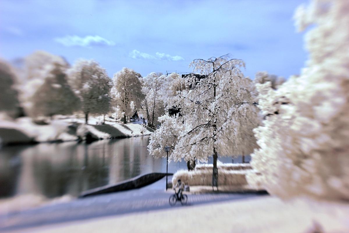 Infrarote Donau zu Ulm