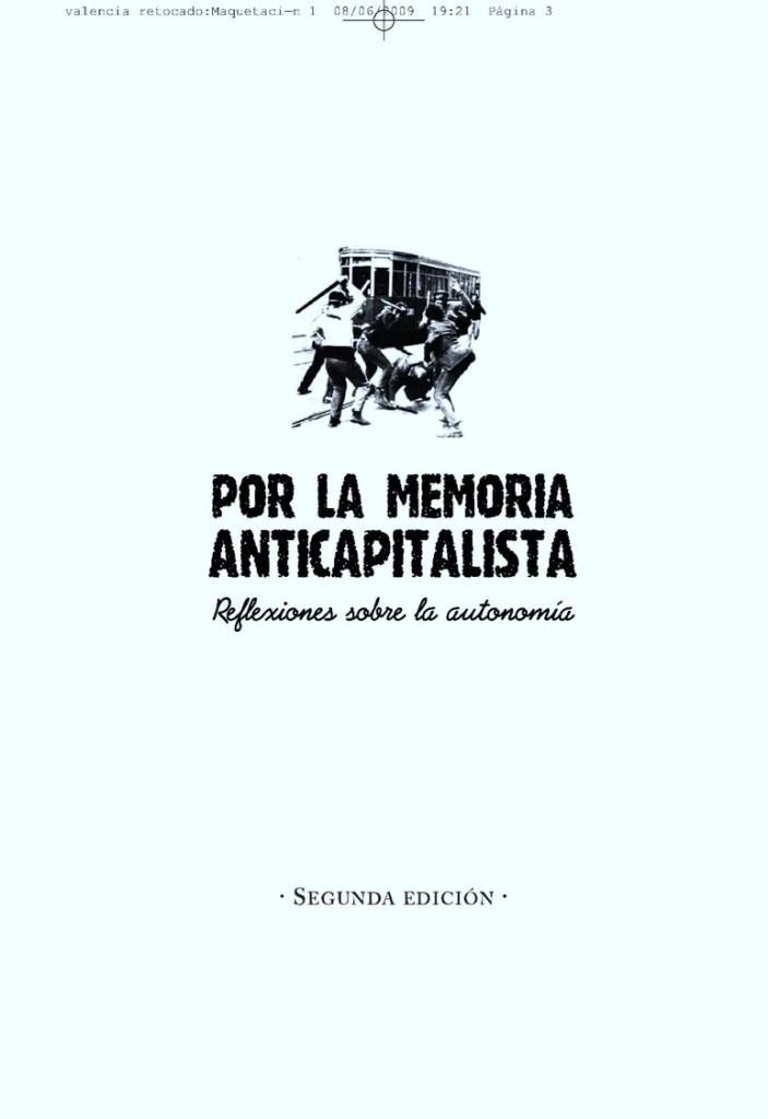 Por la memoria anticapitalista, 2da. edición