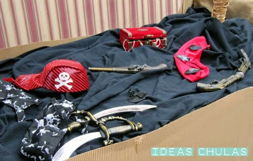 Accesorios de disfraz pirata
