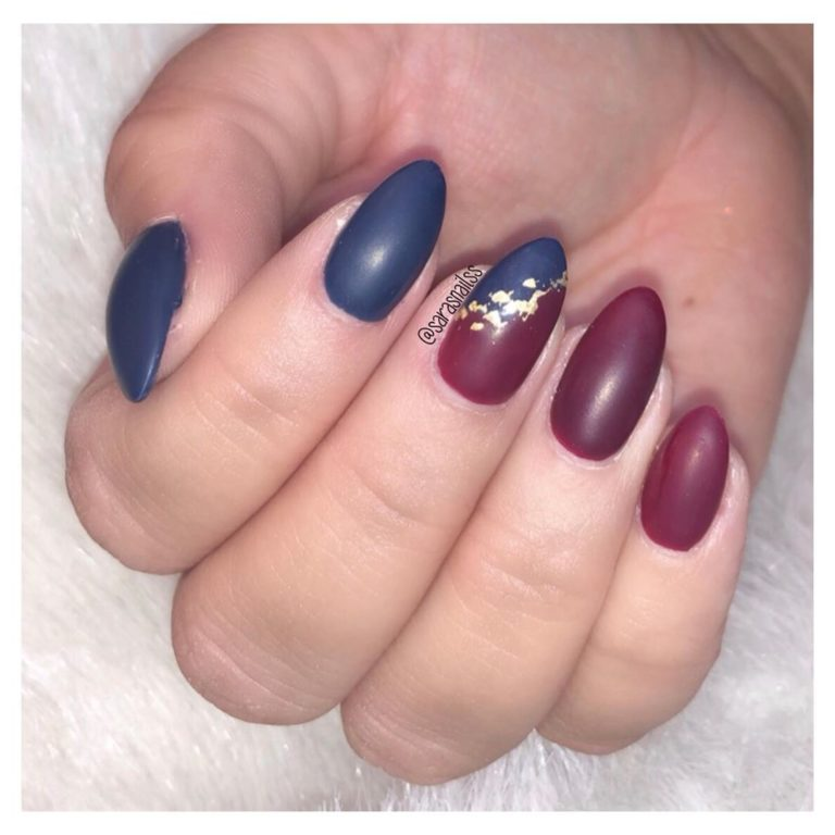 Maroon is one of the best colors around for sure 34+ Easy Maroon Nail Art Design Ideas For Halloween Party In 2019