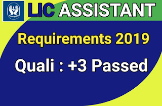 LIC Assistant Recruitment 2019 Online Apply | LIC Junior Assistance Recruitment 2019 | Latest government Jobs Odisha 2019