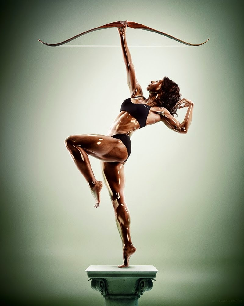 Sculpture Athletes by Tim Tadder and Cristian Girotto