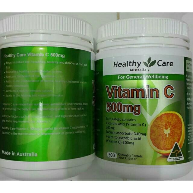 Cách uống Healthy Care Vitamin C Úc