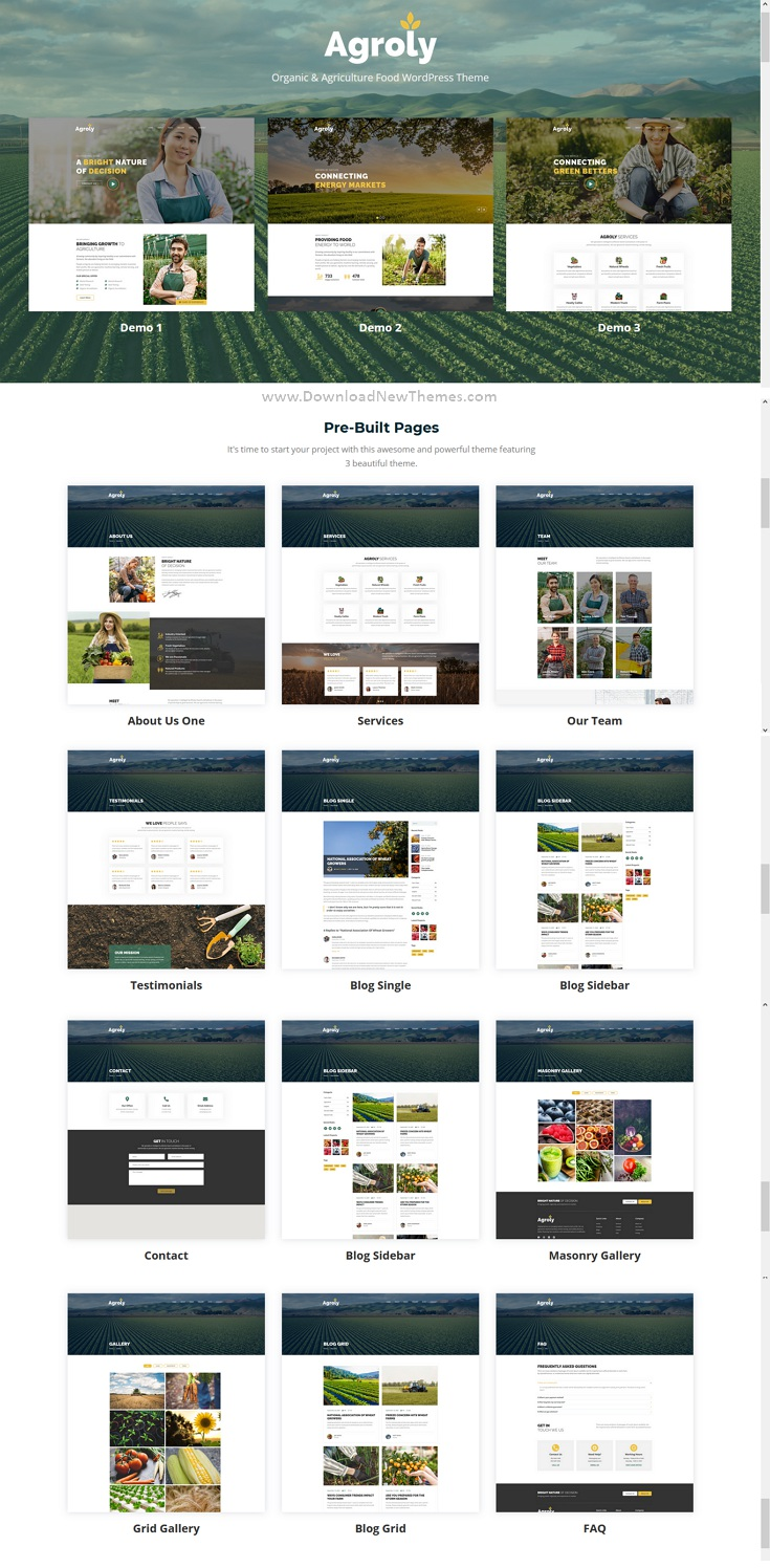 Organic and Agriculture Food WordPress Theme