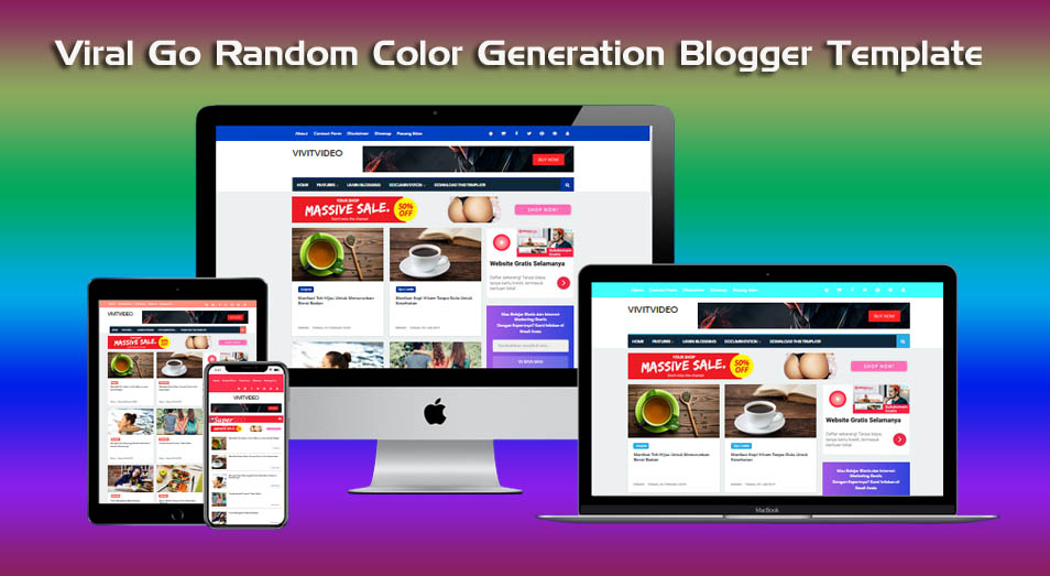 New Viral Go'drong Random Color Generation Blogger Template