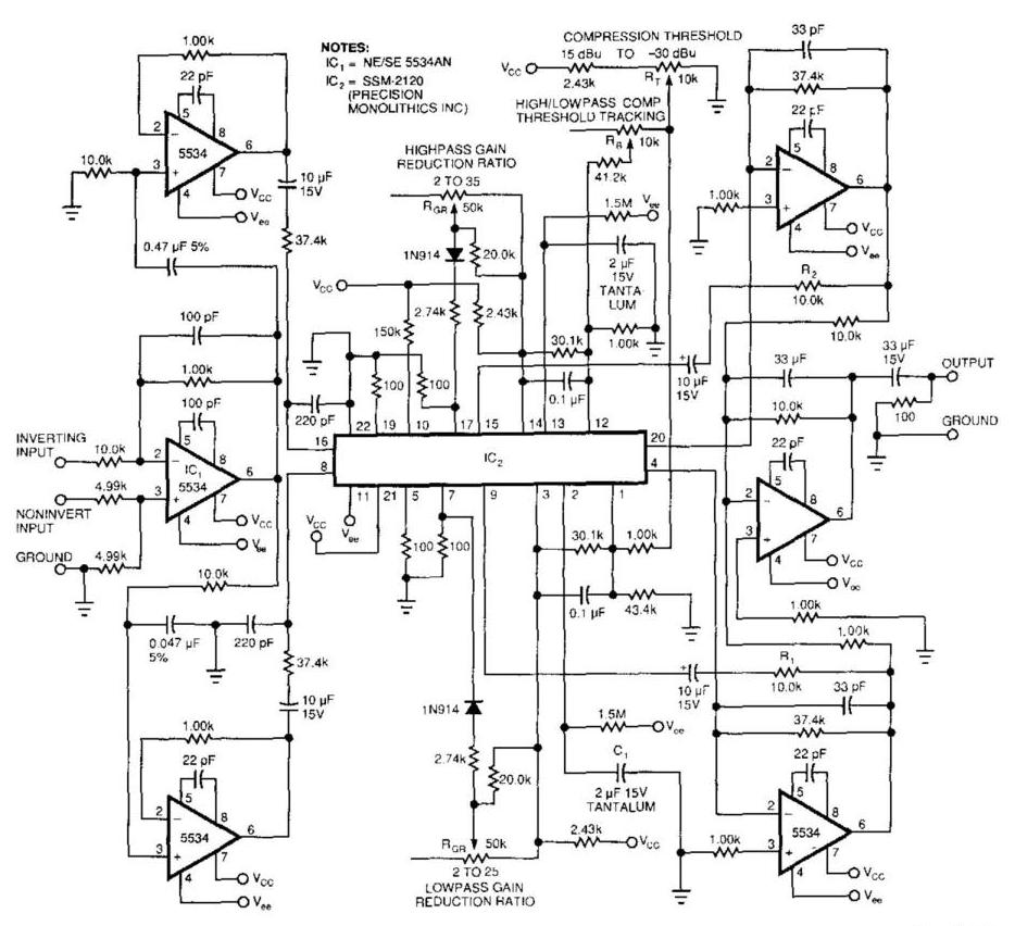 Best Audio Compressor Circuit Diagram | Electronic Circuit