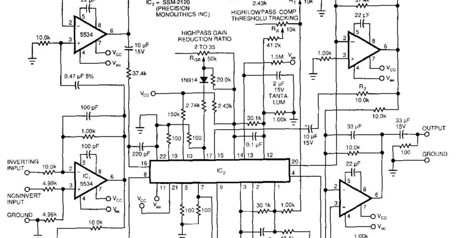 circuit diagram: Best Audio Compressor Circuit Diagram