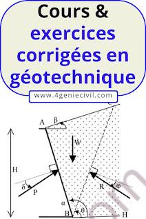 Cours avec exercices corrigées en géotechnique