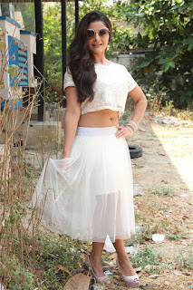 Actress Aqsa Bhatt Stills At Oru Melliya Kodu Movie Audio Launch  0023.jpg
