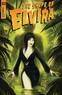 Cover A for The Shape of Elvira #3 from Dynamite Entertainment