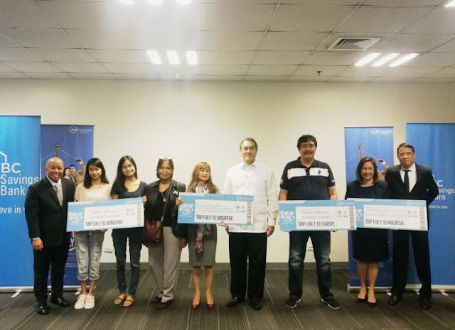 RCBC Savings Bank awards winners of Save Up and Fly promo