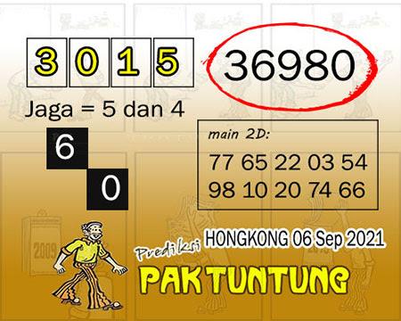 Syair HK Senin 06 September 2021 -