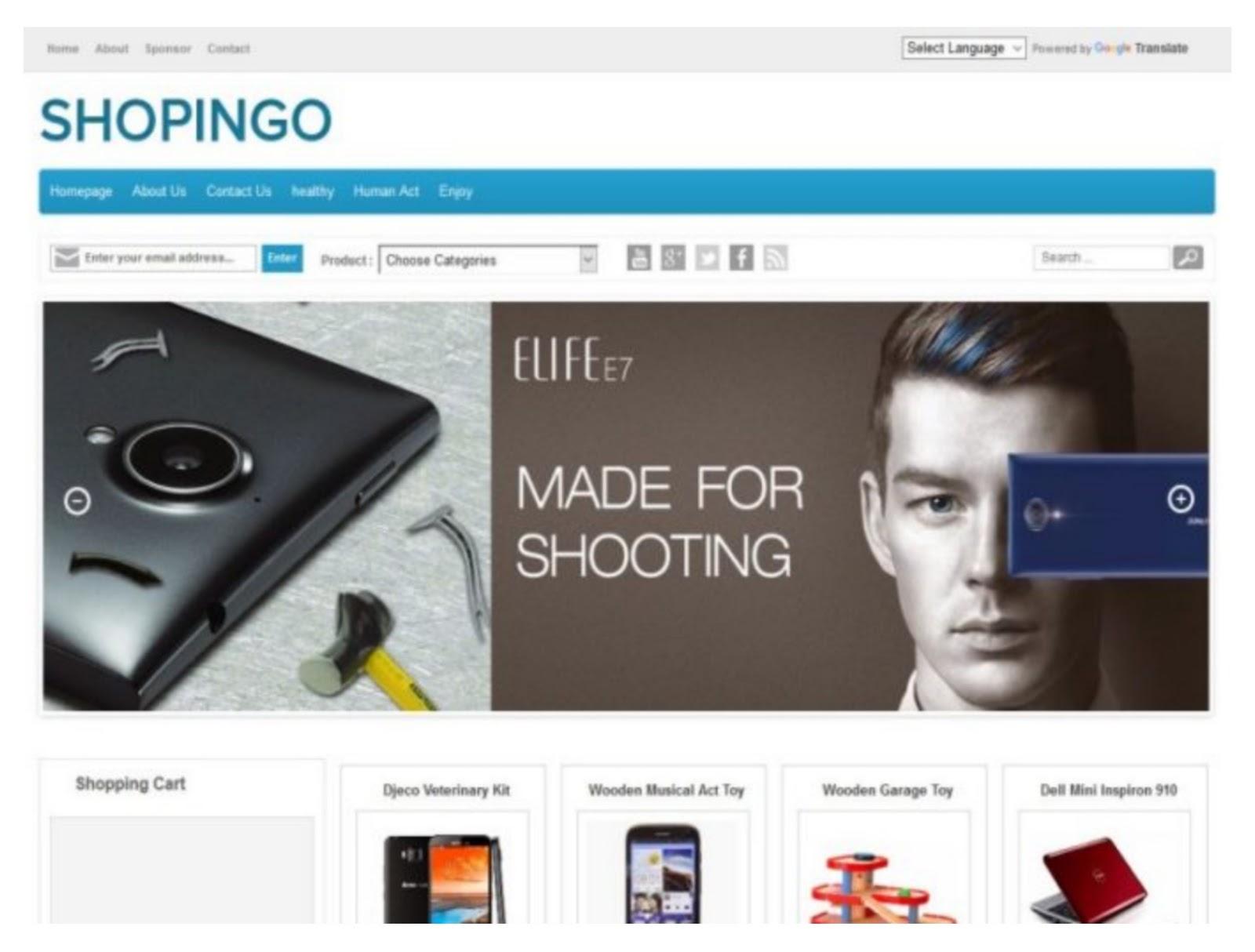 Shopping Theme Blogger Template