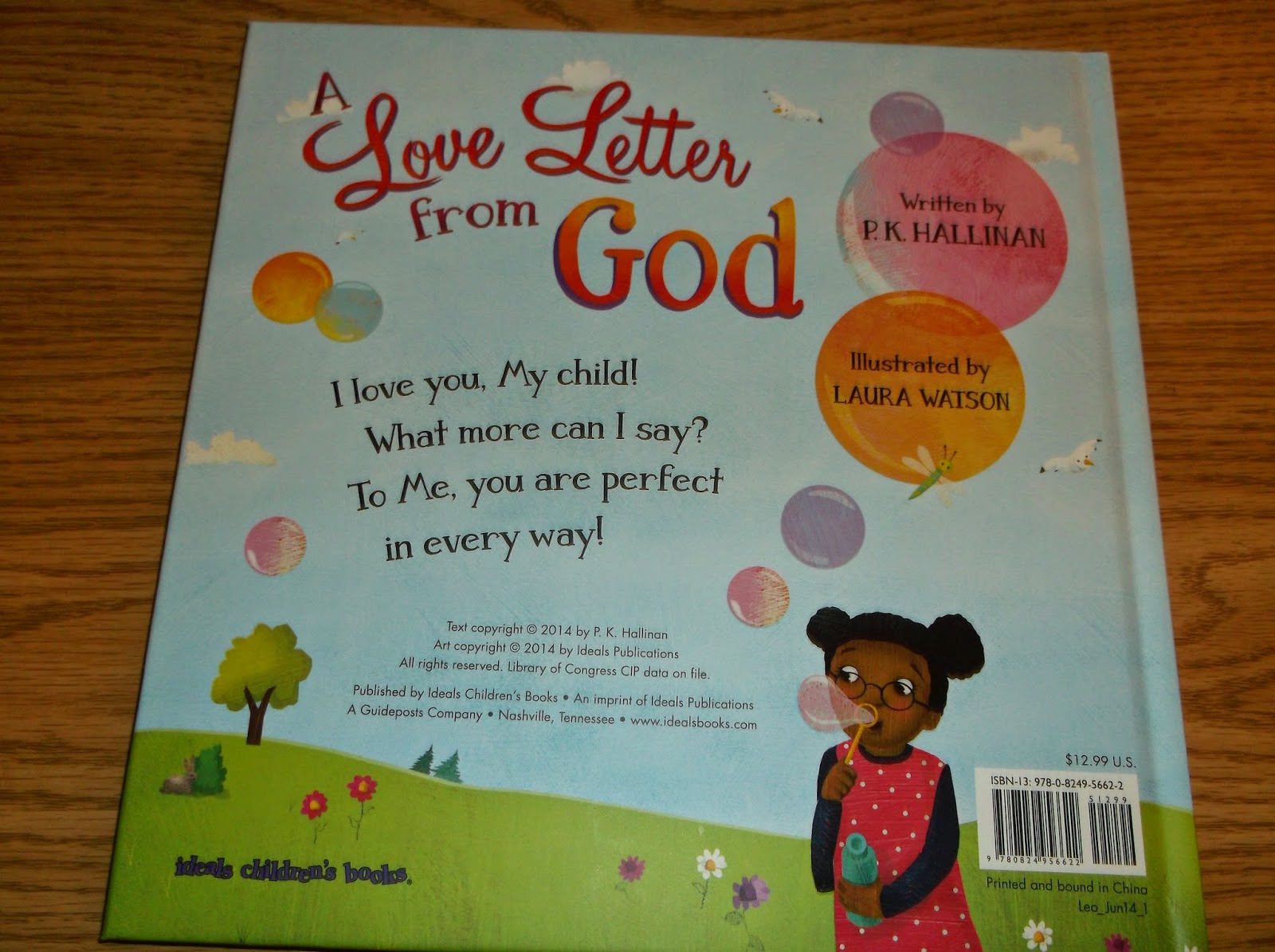 Missys Product Reviews : A Love Letter from God by P K  Hallinan and