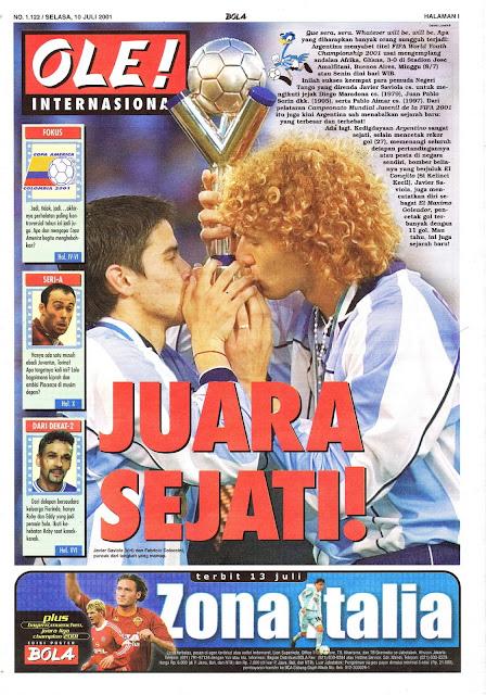 JUARA SEJATI ARGENTINA PIALA DUNIA JUNIOR 2001