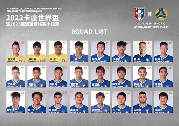 Emilio Estevez Tsai called up to Taiwan's squad for the first time