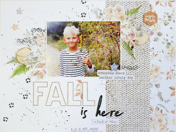 Paper Garden - Podzimní layout se Studio Forty