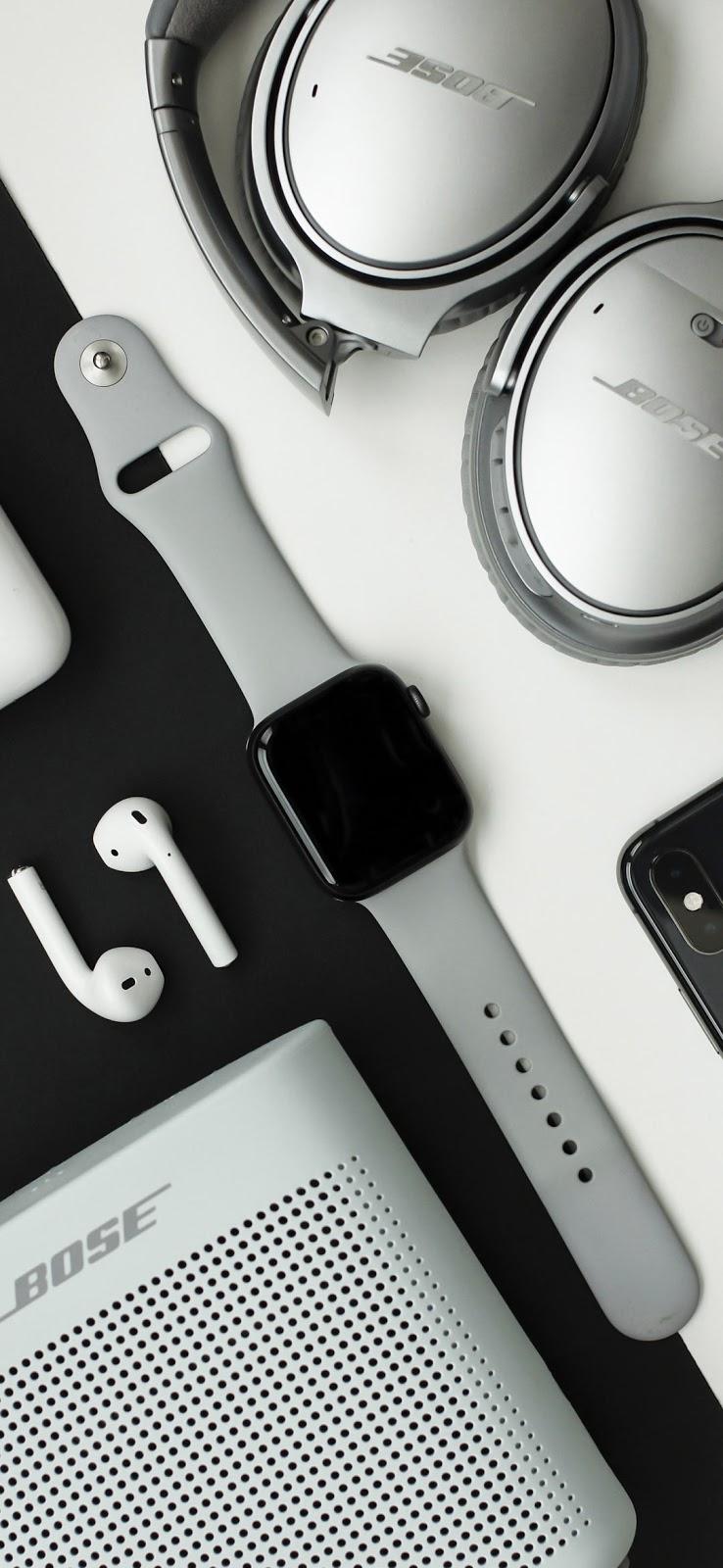 Gray high end tech gadgets