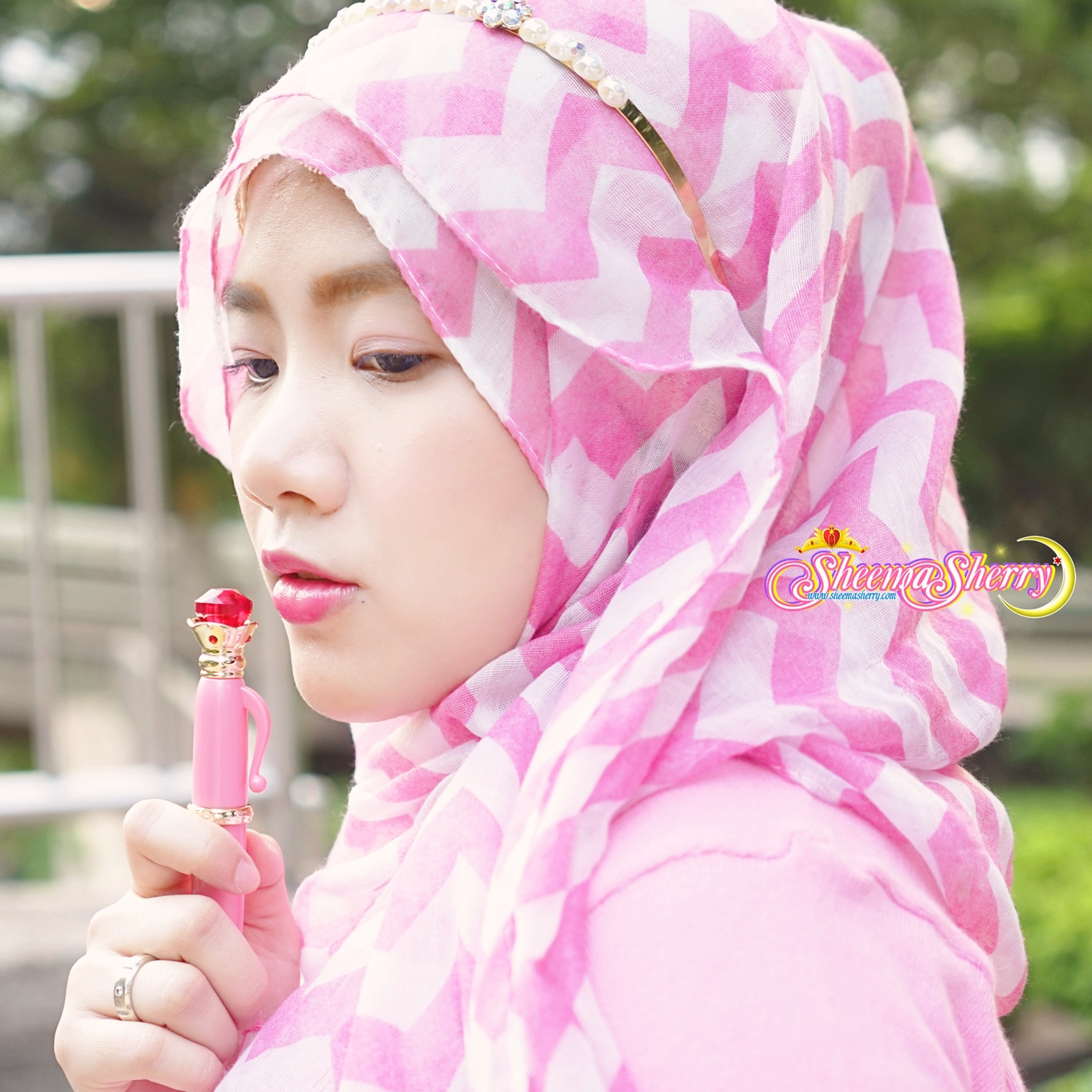 Sheemasherry Sheema Sherry Sailor Moon Miracle Romance Makeup Moisture Rouge Kawaii Hijabi Moonlight Memories Hijab Japan Muslimah Disguise Pen