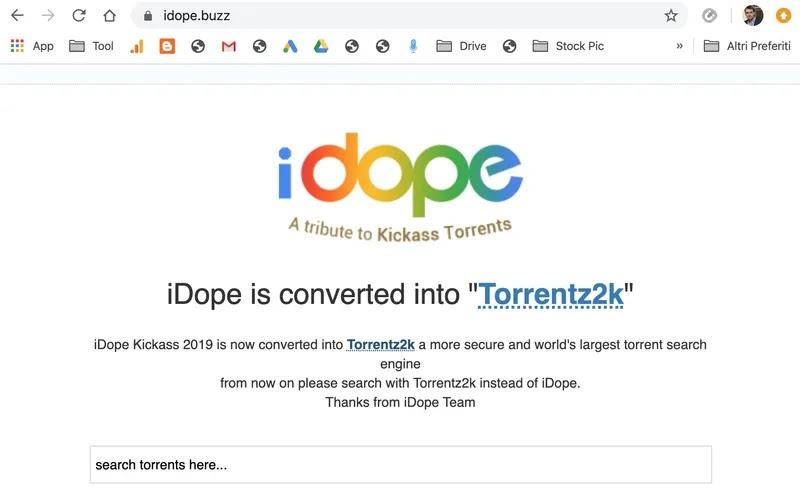 idope motore ricerca torrent 2020_risultato