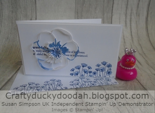 Craftyduckydoodah!, Painted Poppies, Poppy Moments Dies, Susan Simpson UK Independent Stampin' Up! Demonstrator, Supplies available 24/7 from my online store, Kre8tors Blog Hop