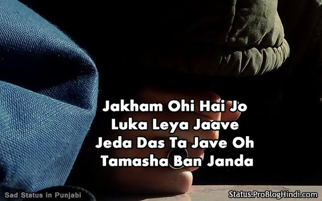 sad lines in punjabi