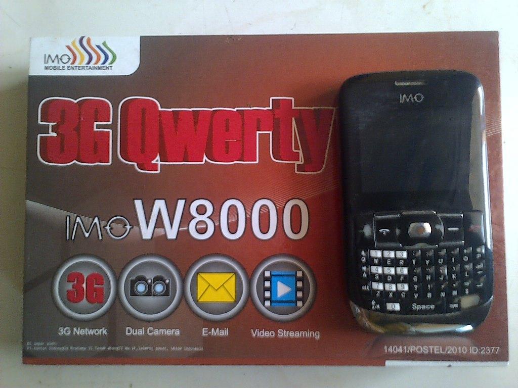 Mencari Ponsel 3G Qwerty IMO W8000