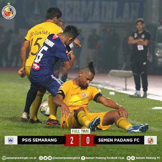 Kalah 0-2 Dari PSIS, Semen Padang Dipastikan Degradasi