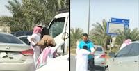 شاهد بالفيديو مضاربة بين سائقين على الطريق العام  ههه