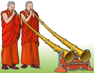 チベットの管楽器 ラグドゥン
