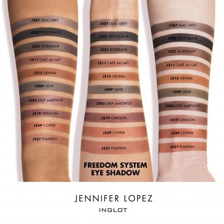 Jennifer Lopez Inglot makeup swatches