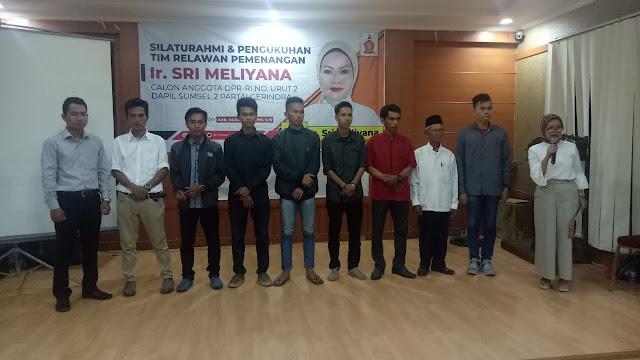 Caleg DPR RI Sri Meliyana Silaturahmi Serta Kukuhkan Relawan OKI